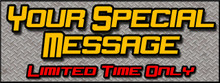 Your Special Message Limited Time banner