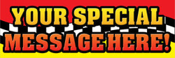 Red Yellow Special Message (Automotive Horizontal Banner)