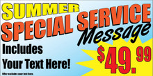 Summer Special Service Message banner