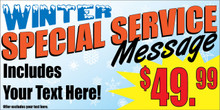 Winter Special Service Message banner