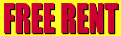 Free Rent yellow banner