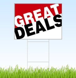 Great Deals- Red/B&W (18 X 24)