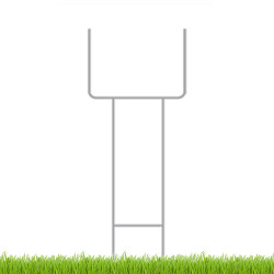 U shaped coroplast sign stakes