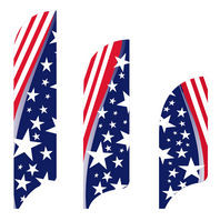 Swirly Stars & Stripes Flag Kit