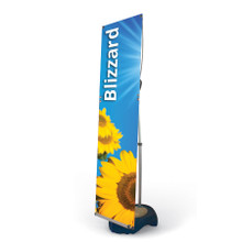 Outdoor weighted banner stand display