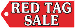 Red Tag Sale (Horizontal Banner)