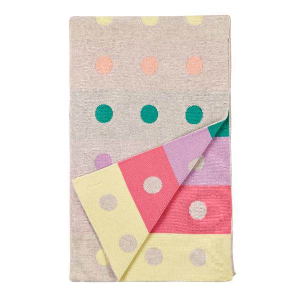 Peggy blanket - Flamingo (folded)