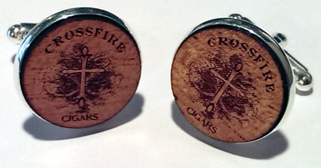 Crossfire Cigars cufflinks