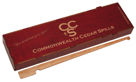 Colonel's Red wood spillbox containing 100+ plain spills
