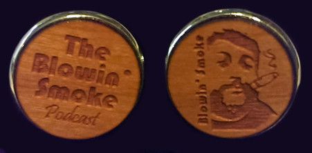 Official cufflinks of The Blowin' Smoke Podcast, Mahogany on silver plated cufflinks!