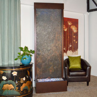 Gardenfall Floor Fountain With Dark Copper Trim And Slate Water Panel