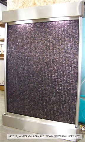 Water Gallery Glass Mosaic Tile Fountain With Stainless