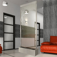 Bluworld Grande Waterwall with Stainless Steel Trim and Clear Glass