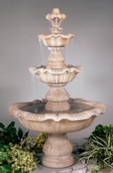 Henri Studio Three Tier Renaissance Outdoor Stone Fountain