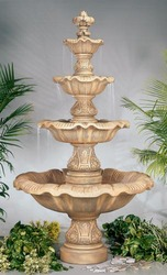 Henri Studio Four Tier Renaissance Outdoor Stone Fountain