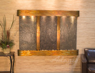 Olympus Falls Wall Fountain with Rustic Copper Frame and Multicolor Slate