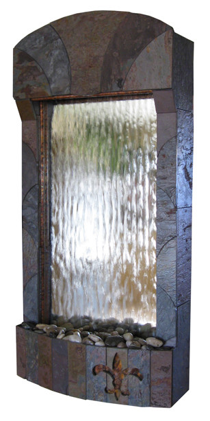 The Fleur De Lis Wall Hanging Fountain