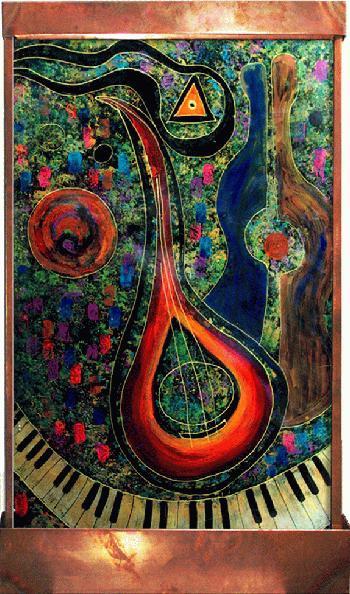 Mandolin Player Art Fountain