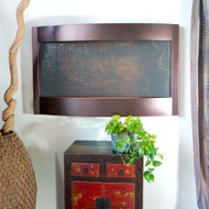 Contempo Horizontal Wall Fountain with Oil Rubbed Bronze Trim and Slate.