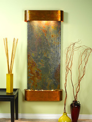 Rustic Copper Trim with Rajah Slate