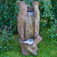 Henri Studio Waterfall Log Outdoor Garden Fountain. Ideal for virtually any home garden or landscape.