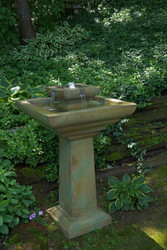 Falling Water Fountain shown in Relic Nebbia finish