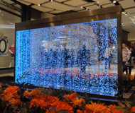 Water Gallery Free Standing Bubble Wall with Vertical Baffles and Stainless Steel Frame