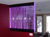 Water Gallery Bubble Wall with Vertical Baffles Installed on a Half  Wall