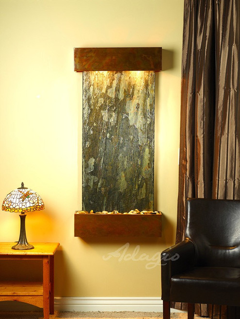 Adagio Cascade Springs - Square Corners - Rustic Copper - Green Slate