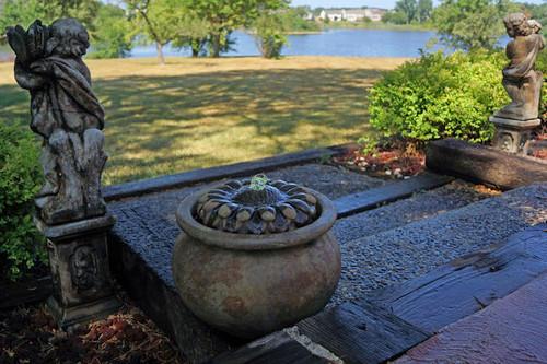 Sunflower Patio Bubbler Fountain