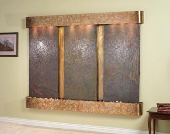 Rustic Copper Trim with Rajah Slate