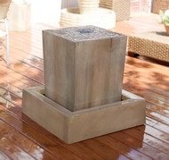 Gist Decor Obtuse Outdoor Stone Fountain Obtuse shown in Sierra finish