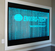 Custom Bubble Wall with Etched Business Logo