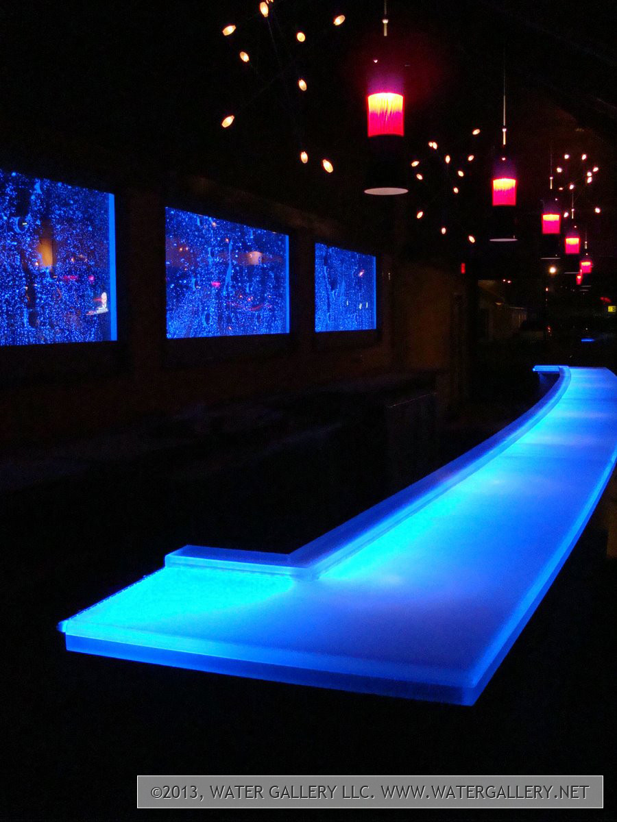 water gallery led frosted acrylic bar top water gallery llc. Black Bedroom Furniture Sets. Home Design Ideas