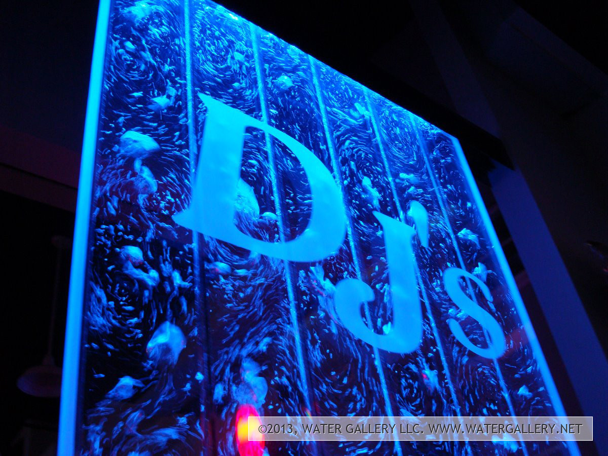 Water Gallery Djs Floor Standing Bubble Panel With Etched