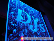 Water Gallery DJs Floor Standing Bubble Panel with Etched Logo