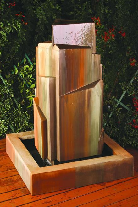 Gist Decor Flourish Outdoor Stone Fountain Shown in Heavy Sierra finish.