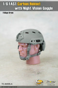 Toys City - Fast Carbon Helmet - Foliage Green
