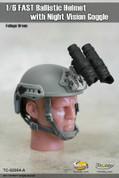 Toys City - Fast Ballistic Helmet - Foliage Green