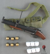 ACE - M79 40mm Grenade Launcher (Saw Off Ver.) - Grenade Bandolier - x6 40mm Grenades - x2 White Spacers
