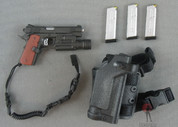 DAM - Pistol Set - Tactical 1911 /w Flashlight - x3 Pistol Mags - x1 CQB Holster