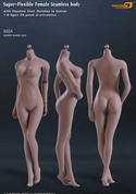 Phicen - Female Body - Seamless Stainless Steel Skeleton in Suntan/Middle Breast (S02A)