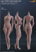 Phicen - Female Body - Seamless Stainless Steel Skeleton in Suntan/Large Breast (S09C)