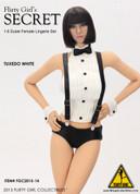 Flirty Girl - Tuxedo Lingerie Character Set - White