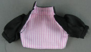 Other - Female - Shirt - Black - Pink & White Striped