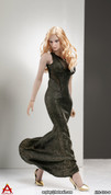 ACPLAY - Sleeveless Mermaid Gown Set D - Gold