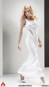 ACPLAY - Sleeveless Mermaid Gown Set B - White