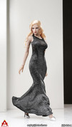 ACPLAY - Sleeveless Mermaid Gown Set A - Silver