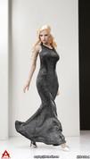 ACPLAY - Sleeveless Mermaid Gown Set A - Silver