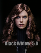 Other - Female Head with Curly Hairstyle 5.0 - Black Widow